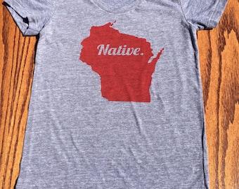 Women's Native Wisconsin T-shirt