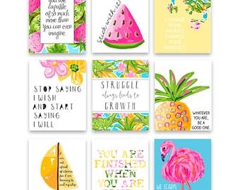 Growth Mindset Classroom Decor, Tropical Classroom Decor, Tropical Classroom Art Prints, Instant Download, Classroom Wall Art, Teacher Art