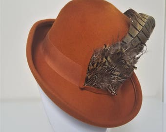 Vintage Mister T Fedora w/ Feather
