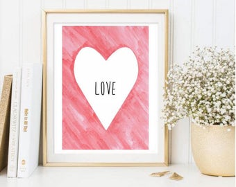 Watercolor Heart Printable