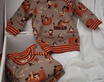 sweat prehistory Jersey, organic cotton Sweatshirt