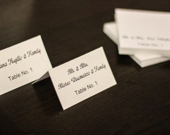 Place Cards.  Wedding Place Cards.  Tented Place Cards.  Table Place Cards.  Wedding Name Card.  Place Cards Wedding.