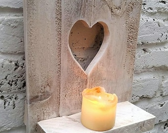 Shabby Chic Smal Decorative Rustic Pallet Wood Handmade Wall Shelf