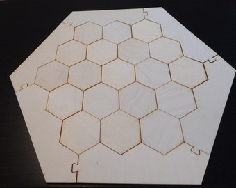 "Settlers of Catan Board - Laser Cut 1/8"" Birch Plywood - Awesome Gamer Gift!"