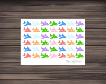 Colorful Airplane Stickers