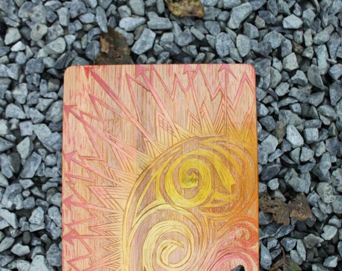 Sun Rays Bamboo Cutting Board