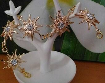 Bracelet gold tone Sun King