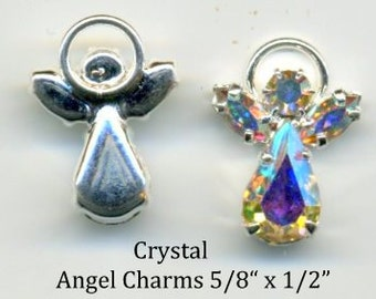 Angel Swarovski Crystal -iridescent body and wings - Quanity 2