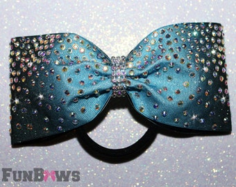Tail-less Ombre Princess bow with AB stones  -  Allstar cheer bow  by Funbows - Customize This !