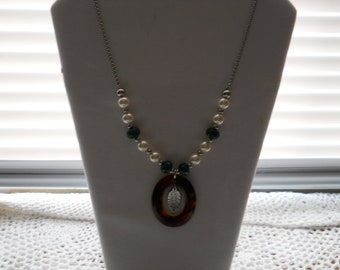Real Stone Pearl Necklace #830