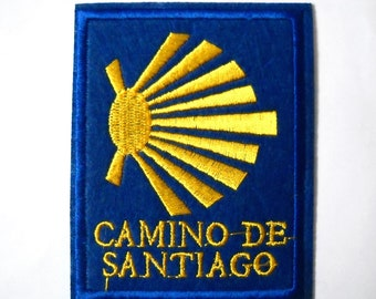 Camino de Santiago St. James Scallop Shell Cloth Patch