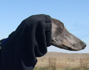 Greyhound Snood - Polar Fleece Greyhound Snood - Snood for Greyhound - several colors - Dog Snood