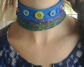 OceanMist Fabric Choker Necklace