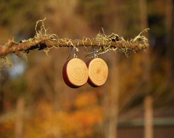 Wood Earrings, Tree Branch Earrings, Madrone Wood Earrings