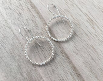 Ball Wire Circle Earrings