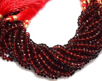 AAA Quality Mozambique Garnet Rondelle Beads 8 Inch Strand ,Mozambique Garnet Faceted Rondelle Beads , 5.75 mm - MC232