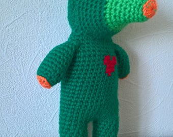 Amigurumi crocheted Knitted green cactus animal toy