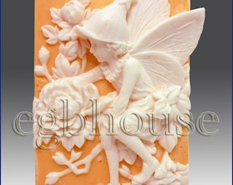2D silicone Soap/polymer/clay/cold porcelain mold-Spring Fairy,Faye - you are buying from original designer - say no to copycats