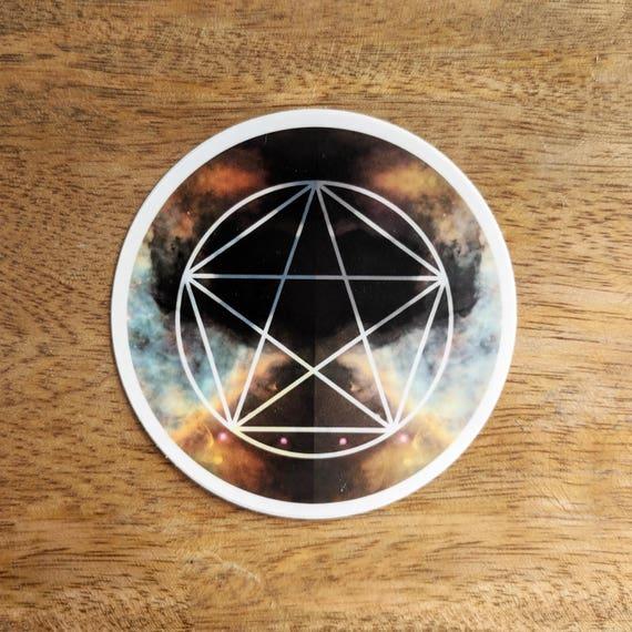 Pentagram Sacred Geometry Sticker