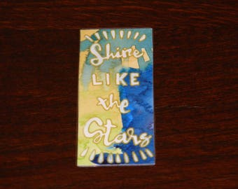 Funny watercolor bookmark with inspiring quote