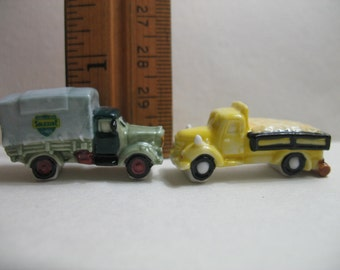 TRUCK Van Car Vehicles Trucks Miniature French Feve Feves Porcelain Figurines King Cake Baby Doll House Charm Mini  Figures