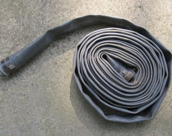 Firemen Decor Man Cave Decor Fire Hose Goodyear Gray Fire Hose Fire Hydrant Theater Prop Authentic Real