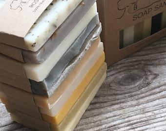 Soap Sampler Set - Soap Ends, All Natural soap, Handmade soap, Cold Process soap, essential oil soap, vegan soap, guest soap