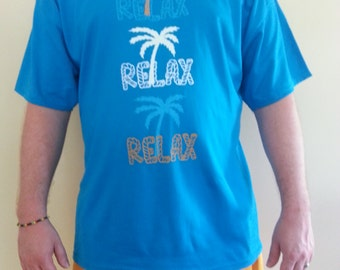 Relax Tee - Blue, Yellow, or Lime Green