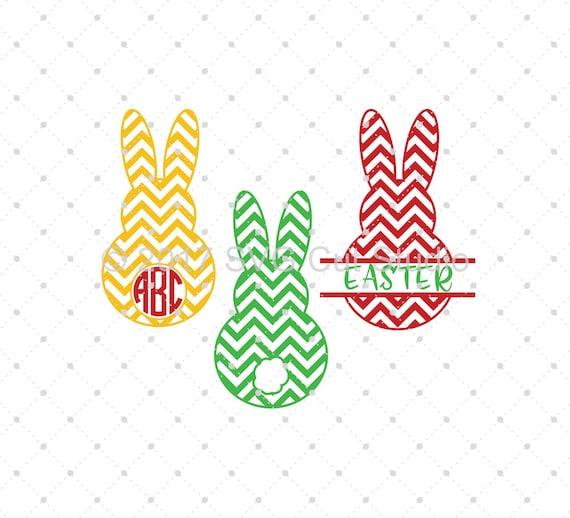 Chevron Easter Bunny Svg Cut Files Bunny Circle And Split