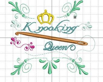 """Stickdatei """"Knooking Queen"""""""