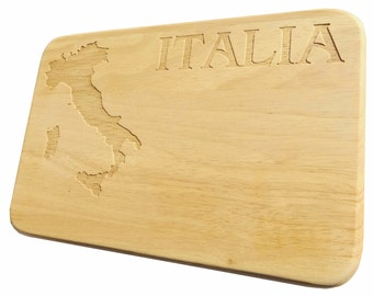Brotbrett Italia Breakfast Board Italy-Breakfast board Italy-engraving-wood