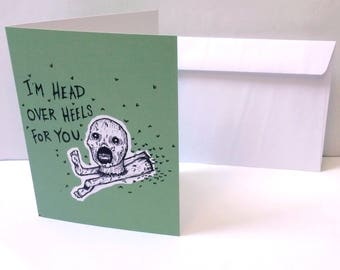 I'm Head Over Heels Valentine/ Note card
