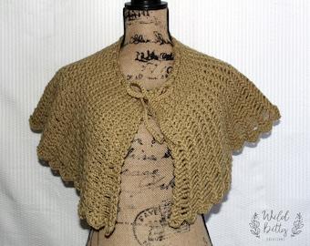 Capelet, Crochet Capelet, Crochet Shawl, Womens Shawl, Crochet Cape, Womens Capelet, Bridal Shawl, Caplet, Wedding Shrug, Capelet Shawl