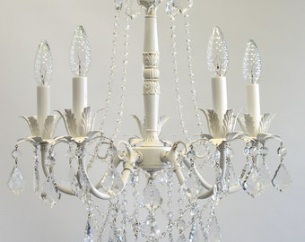 Shabby chic chandelier etsy mozeypictures Image collections