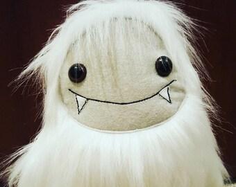 Yeti, Christmas Yeti monster, white yeti, stuffed yeti, abominable snowman toy, furry monster, christmas decoration