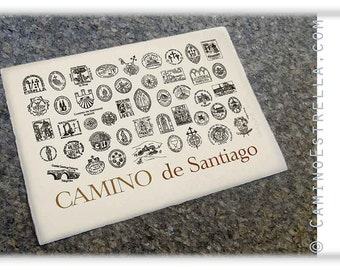 Camino de Santiago Pilgrimage Stamps of the Camino de Santiago art print