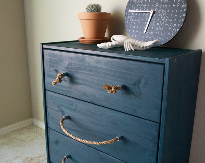 Inspiration: Steel Hexagonal Rope Pull and Knot Drawer Knob