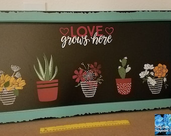 Love Grow Here Chalkboard-Chalk Couture