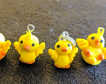 Easter chick stitch markers, knitting stitch markers,crochet stitch markers