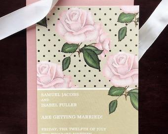 Romantic Floral Elegant Wedding Save the Dates