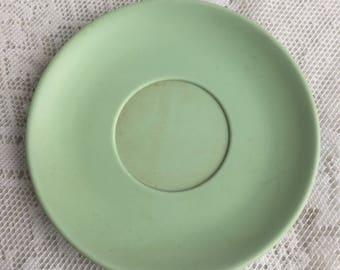 Melamine Saucer / Vintage Light Green Saucer / Hemcoware Melmac Plate