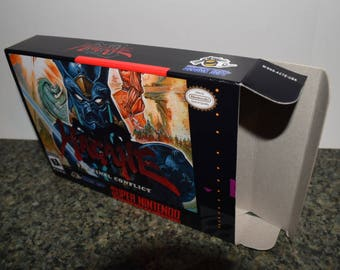 Hagane Super Nintendo SNES Reproduction Box! Best Repros in the world!