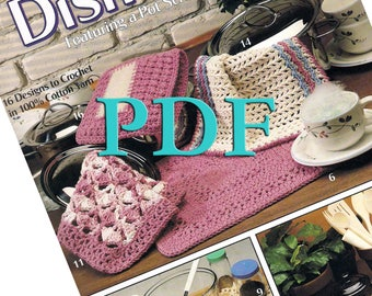 PDF - Dishcloths Featuring a Pot Scrubber, Too! , 1991, 16 vintage designs
