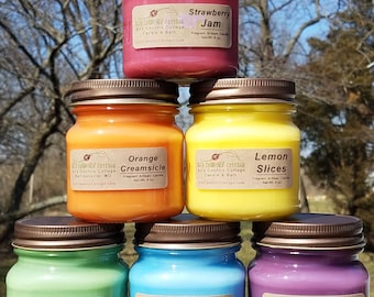 3 HOME-SCENTING CANDLES - Choice - Vanilla, Cinnamon, Apple, Pumpkin, Fresh, Clean, Citrus, Floral, Spice, Fruit, Herbal, Candle Gift Pack