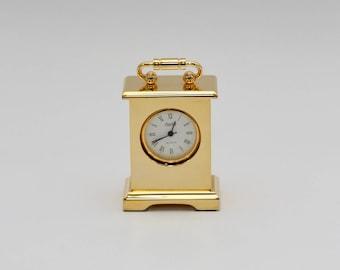 Churchill Miniature Brass Carriage Clock