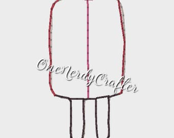 Popsicle Flasher Feltie Embroidery Digital Design File