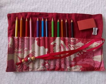 Kit roll for coloured pencils