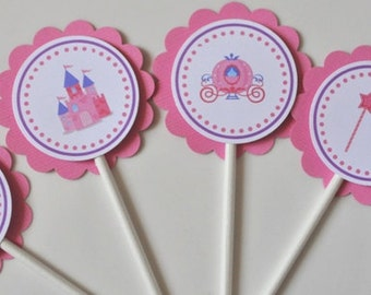 Fairytale Cupcake toppers, set of 12