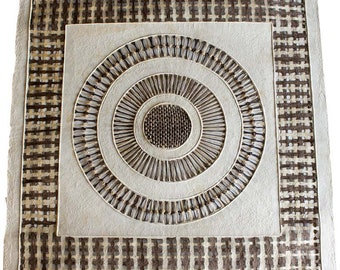 Amate Bark Paper Designs from Mexico - Chapeton - 31 Inches by 31 Inches