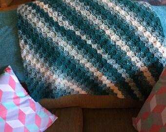 Crochet Teal Baby Blanket